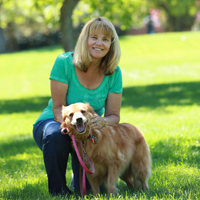 Gaye Nakken with dog