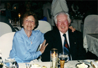 John and Eunice Davidson at dinner